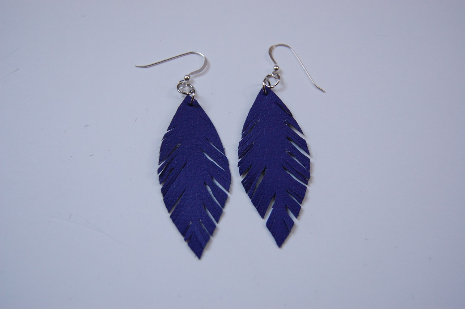 leather feather earrings diy in pdx