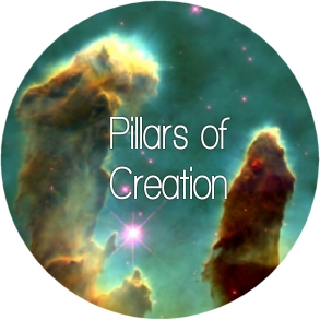 Pillars of Creation, galaxy/nebula print silk scarves