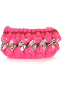 Knit chain DIY Marni bracelet