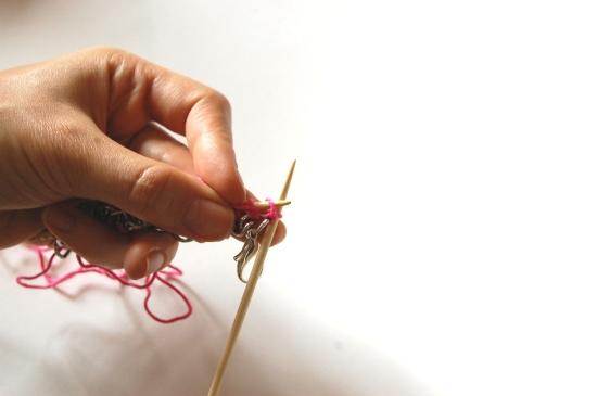 Knit chain DIY Marni bracelet