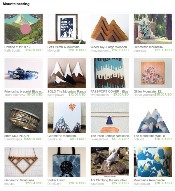 etsy mountaineering treasury