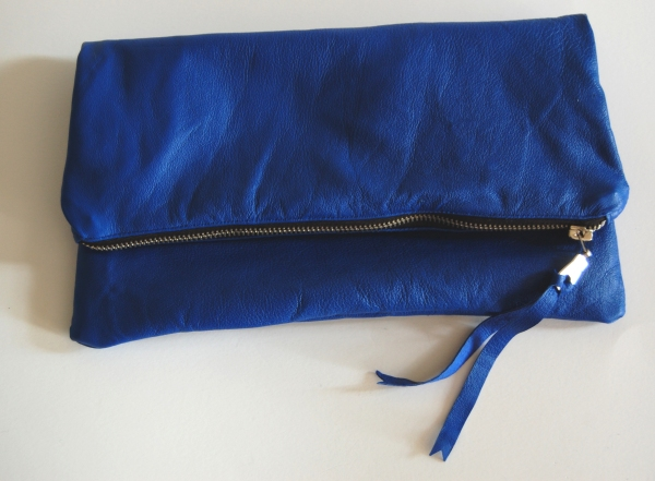 Leather Foldover Clutch Purse Bag DIY Tutorial