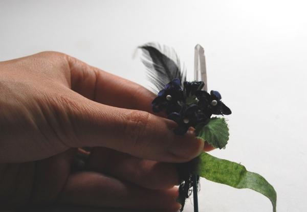 crystal boutonnierre DIY tutorial