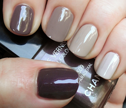DIY nail manicure ombre color gradation
