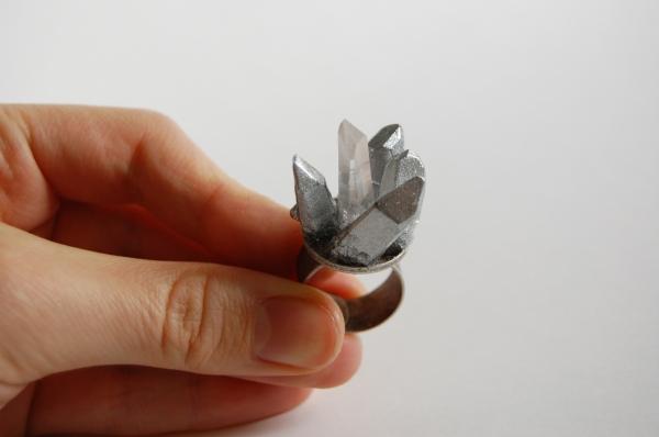 Pamela Love-inspired crystal ring DIY tutorial