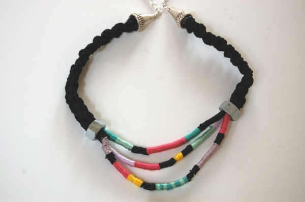 tribal rope necklace